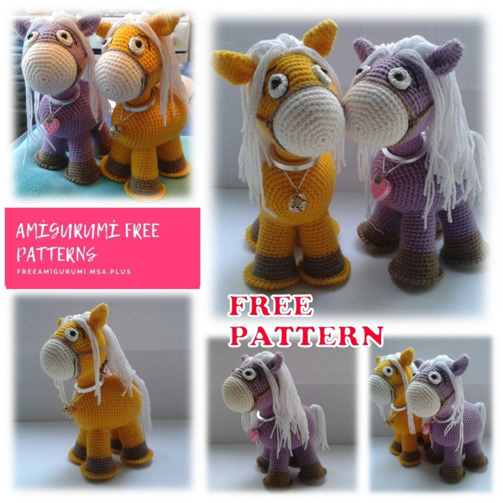 Amigurumi little horse : Free and quick crochet pattern | 1024x1024